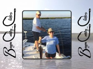 Vickey and Jeff on Bayou Country Charters Fishing in new orleans